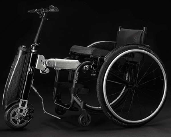 Klaxon klick Mini Handbike Motorised Wheelchair Attachment